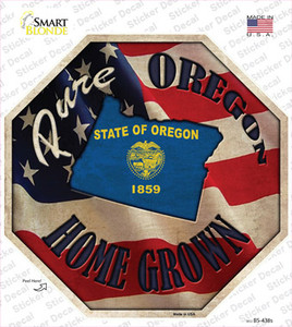 Oregon Home Grown Wholesale Novelty Octagon Sticker Decal