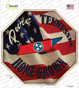 Tennessee Home Grown Wholesale Novelty Octagon Sticker Decal