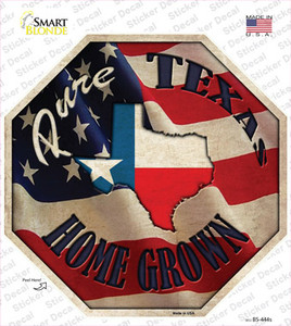 Texas Home Grown Wholesale Novelty Octagon Sticker Decal