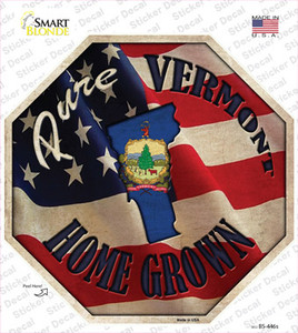Vermont Home Grown Wholesale Novelty Octagon Sticker Decal