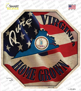 Virginia Home Grown Wholesale Novelty Octagon Sticker Decal