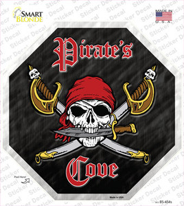 Pirates Cove Wholesale Novelty Octagon Sticker Decal