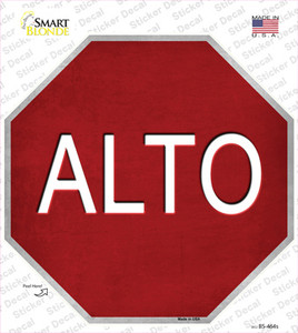 Alto Wholesale Novelty Octagon Sticker Decal