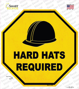 Hard Harts Required Wholesale Novelty Octagon Sticker Decal