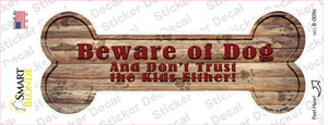 Beware of Dog and Kids Wholesale Novelty Bone Sticker Decal