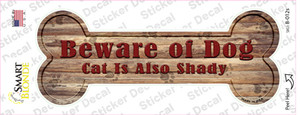 Beware of Dog and Cat Wholesale Novelty Bone Sticker Decal