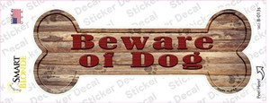 Beware of Dog Wholesale Novelty Bone Sticker Decal