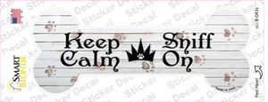 Keep Calm Sniff On Wholesale Novelty Bone Sticker Decal