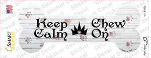 Keep Calm Chase On Wholesale Novelty Bone Sticker Decal