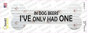 In Dog Beers Wholesale Novelty Bone Sticker Decal