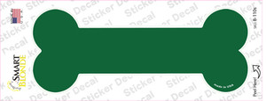 Green Solid Wholesale Novelty Bone Sticker Decal