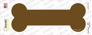 Brown Solid Wholesale Novelty Bone Sticker Decal