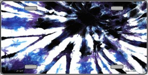 Purple Blue Tie-Dye Wholesale Metal Novelty License Plate