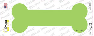 Lime Green Solid Wholesale Novelty Bone Sticker Decal