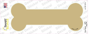 Gold Solid Wholesale Novelty Bone Sticker Decal