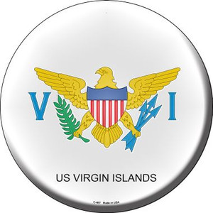 US Virgin Islands Country Wholesale Novelty Metal Circular Sign