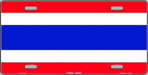 Thailand Flag Wholesale Metal Novelty License Plate LP-1420