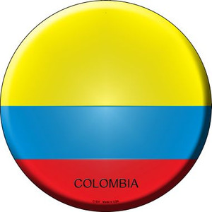 Colombia Country Wholesale Novelty Metal Circular Sign