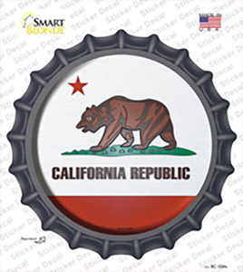 California State Flag Wholesale Novelty Bottle Cap Sticker Decal