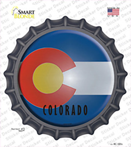 Colorado State Flag Wholesale Novelty Bottle Cap Sticker Decal