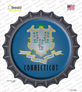 Connecticut State Flag Wholesale Novelty Bottle Cap Sticker Decal