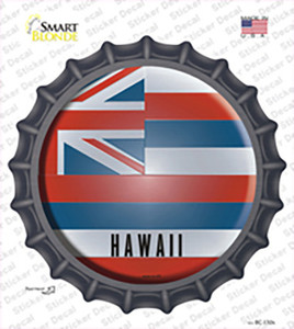 Hawaii State Flag Wholesale Novelty Bottle Cap Sticker Decal