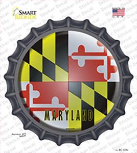 Maryland State Flag Wholesale Novelty Bottle Cap Sticker Decal