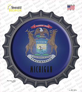 Michigan State Flag Wholesale Novelty Bottle Cap Sticker Decal