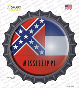 Mississippi State Flag Wholesale Novelty Bottle Cap Sticker Decal