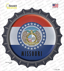 Missouri State Flag Wholesale Novelty Bottle Cap Sticker Decal
