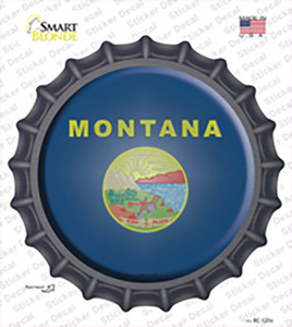 Montana State Flag Wholesale Novelty Bottle Cap Sticker Decal