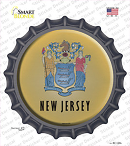 New Jersey State Flag Wholesale Novelty Bottle Cap Sticker Decal