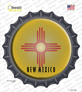 New Mexico State Flag Wholesale Novelty Bottle Cap Sticker Decal