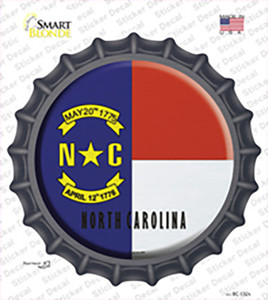 North Carolina State Flag Wholesale Novelty Bottle Cap Sticker Decal