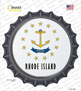 Rhode Island State Flag Wholesale Novelty Bottle Cap Sticker Decal