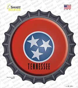 Tennessee State Flag Wholesale Novelty Bottle Cap Sticker Decal