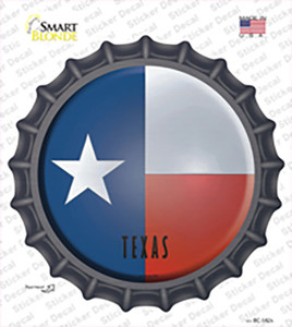 Texas State Flag Wholesale Novelty Bottle Cap Sticker Decal