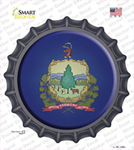 Vermont State Flag Wholesale Novelty Bottle Cap Sticker Decal