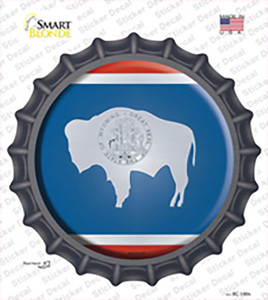 Wyoming State Flag Wholesale Novelty Bottle Cap Sticker Decal