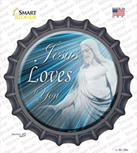 Jesus Loves You Wholesale Novelty Bottle Cap Sticker Decal