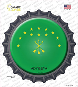 Adygea Country Wholesale Novelty Bottle Cap Sticker Decal
