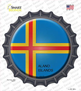 Aland Islands Country Wholesale Novelty Bottle Cap Sticker Decal
