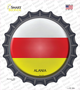 Alania Country Wholesale Novelty Bottle Cap Sticker Decal