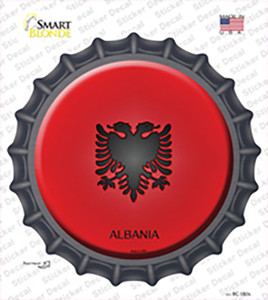 Albania Country Wholesale Novelty Bottle Cap Sticker Decal