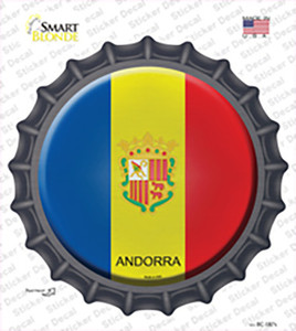 Andorra Country Wholesale Novelty Bottle Cap Sticker Decal