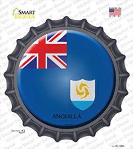 Anguilla Country Wholesale Novelty Bottle Cap Sticker Decal