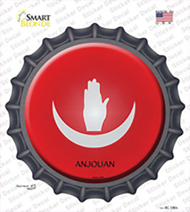 Anjouan Country Wholesale Novelty Bottle Cap Sticker Decal