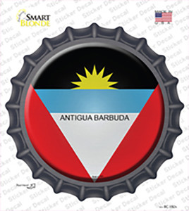 Antigua Barbuda Wholesale Novelty Bottle Cap Sticker Decal