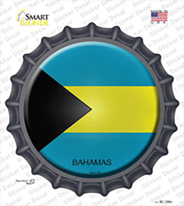 Bahamas Country Wholesale Novelty Bottle Cap Sticker Decal