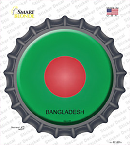 Bangladesh Country Wholesale Novelty Bottle Cap Sticker Decal